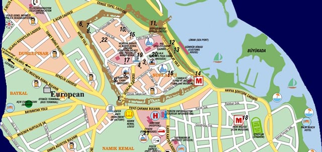 Maps Famagusta Cyprus Maps Famagusta Resort Hotel And