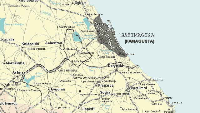 Maps Famagusta Cyprus. Maps Famagusta Resort Hotel and