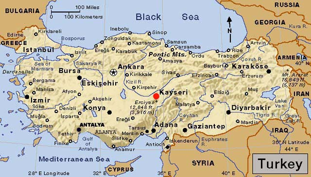 ... Forecast and Maps Erciyes Ski Center Kayseri Turkey Eurasia and World