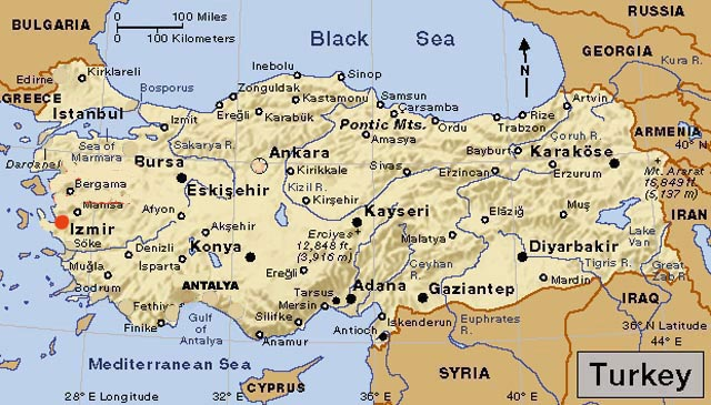 Izmir Turkey Map Turkey Hotels, Turkey Holidays, Turkey Travels, Turkey Vacations
